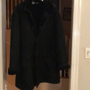 Polo Ralph Lauren black shearling coat